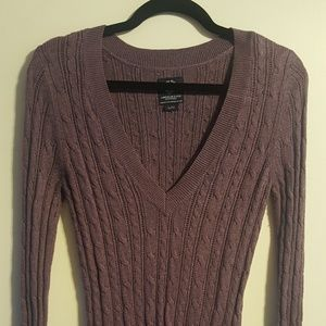 American Eagle purpke v-neck sweater